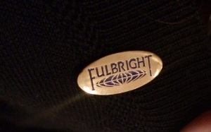 Close up of Fulbright Pin