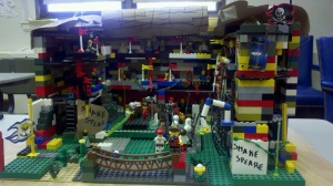Globe theater out of legos