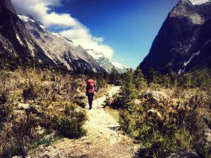 Jessie walking through the valley