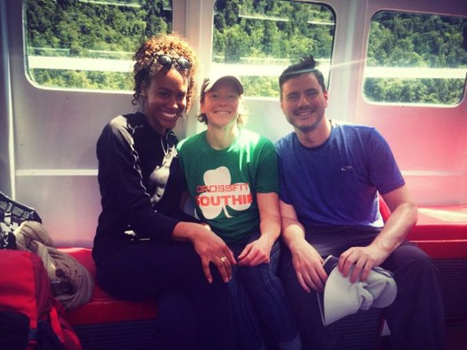 Kendra, Neal, and I on the boat home.