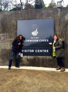 Picture outside of waitomo caves