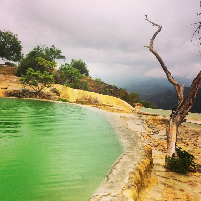 A picture of Hierve El Agua