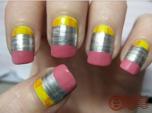 Picture of pencil nails