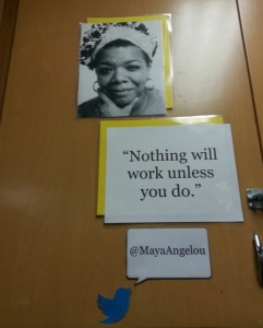 Picture of Maya Angelou tweet