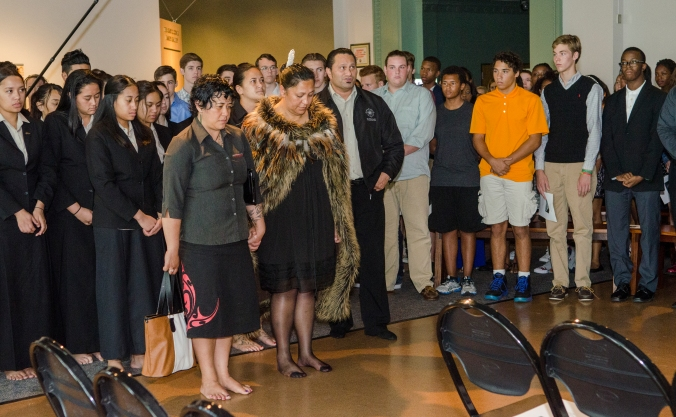 Photo credit: APJ Photography Te Kāpehu Whetū enters the space while we all stand.