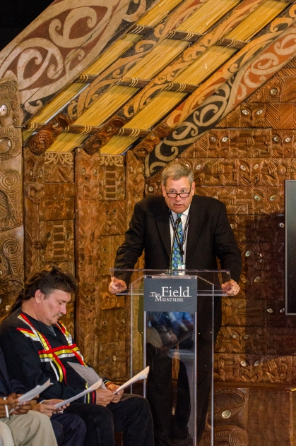 Photo credit: APJ Photography A whaikōrero, or speech from Ray DeThorne, Chief Marketing Officer of The Field Museum