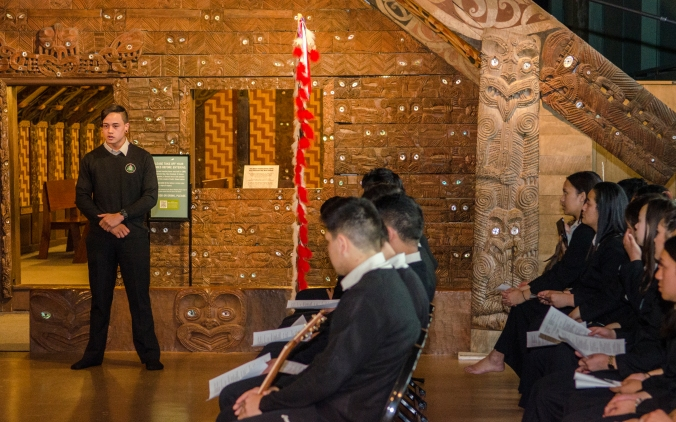 Photo credit: APJ Photography A student from Te Kāpehu Whetū speaks