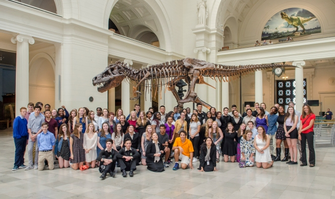 Photo credit: APJ Photography All of the students together in front of Sue!